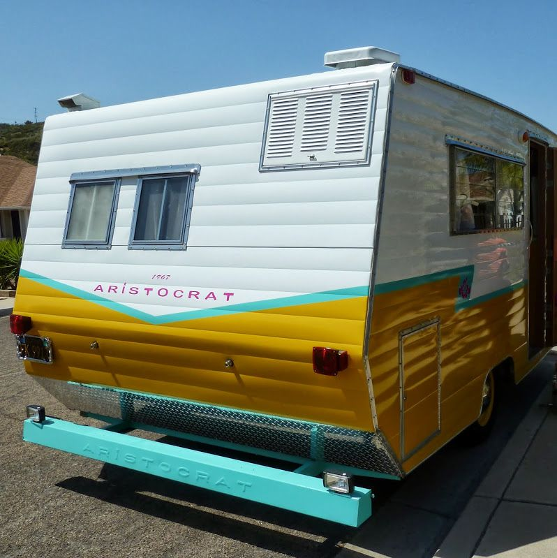 I Installed A Small Window Air Conditioner In An Upper Cabinet At The Rear Of My Aristocrat I Mo Vintage Camper Remodel Vintage Camper Camper Air Conditioner