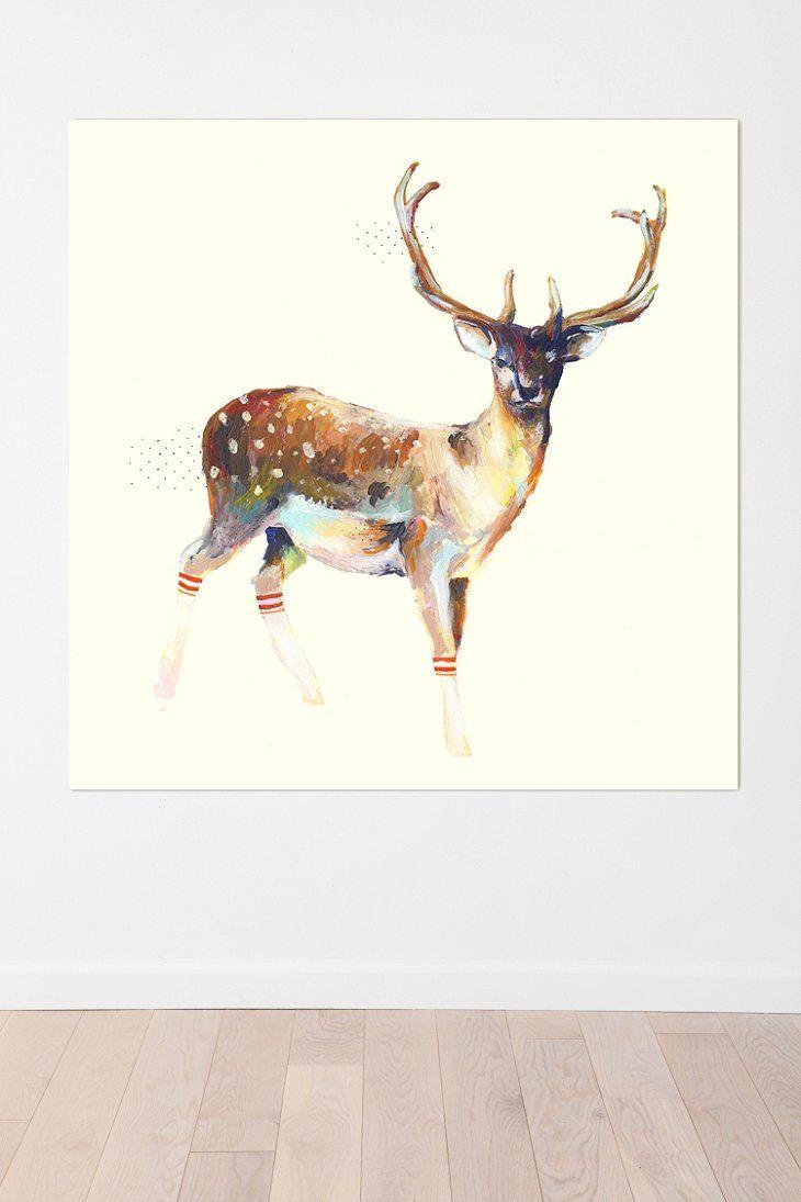 Charmaine olivia deer wearing gym socks wall mural for the home