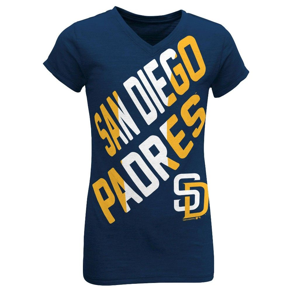San Diego Padres Youth Tri-blend V-Neck T-Shirt XL, Kids Unisex, Multicolored