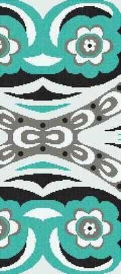 Bisazza Bisazza Wears Emilio Pucci Amelie Green B_129,1*290,5 , Гостиная, Общественные помещения, стиль Дизайнерский, Emilio Pucci, Фактура под ткань (обои), настенная, Глянцевая, Неректифицированный