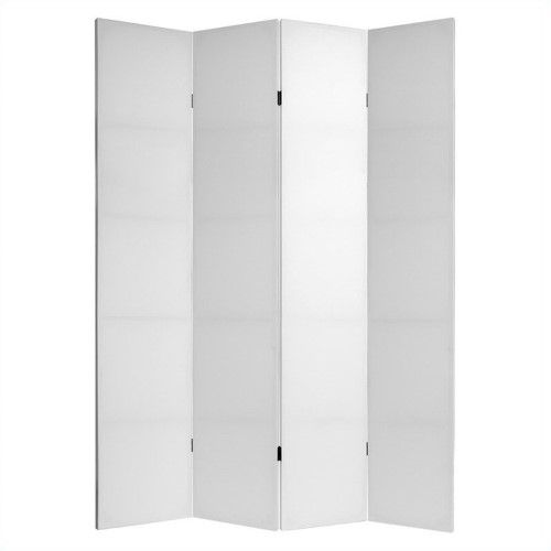 7 Tall Do It Yourself Canvas Room Divider White Oriental