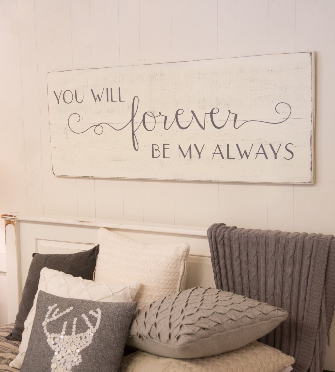 Bedroom wall decor You will forever be my always sign