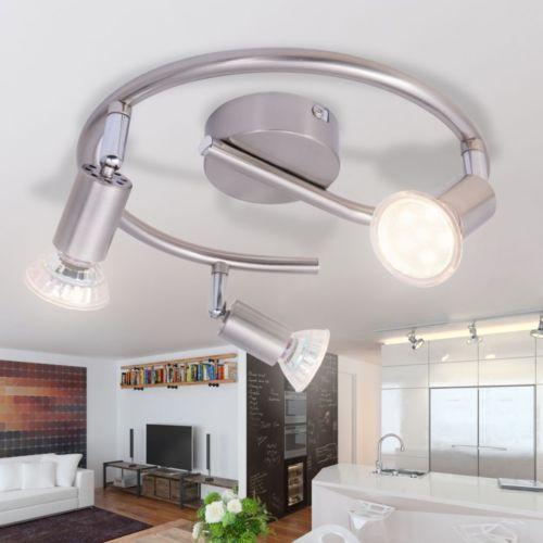 LED Deckenlampe Deckenleuchte + 3 Strahler GU10 Lampe Leuchte