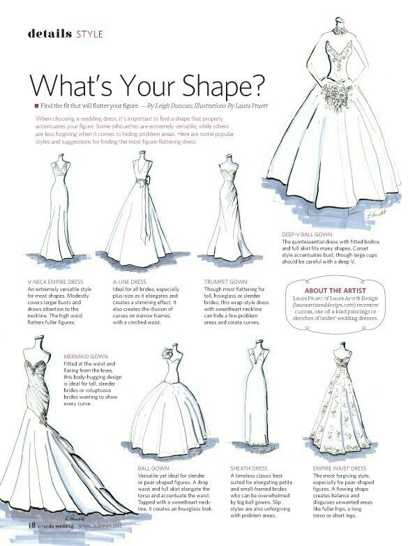 Guidelines Wedding Dress Shapes Dream Wedding Wedding Gowns
