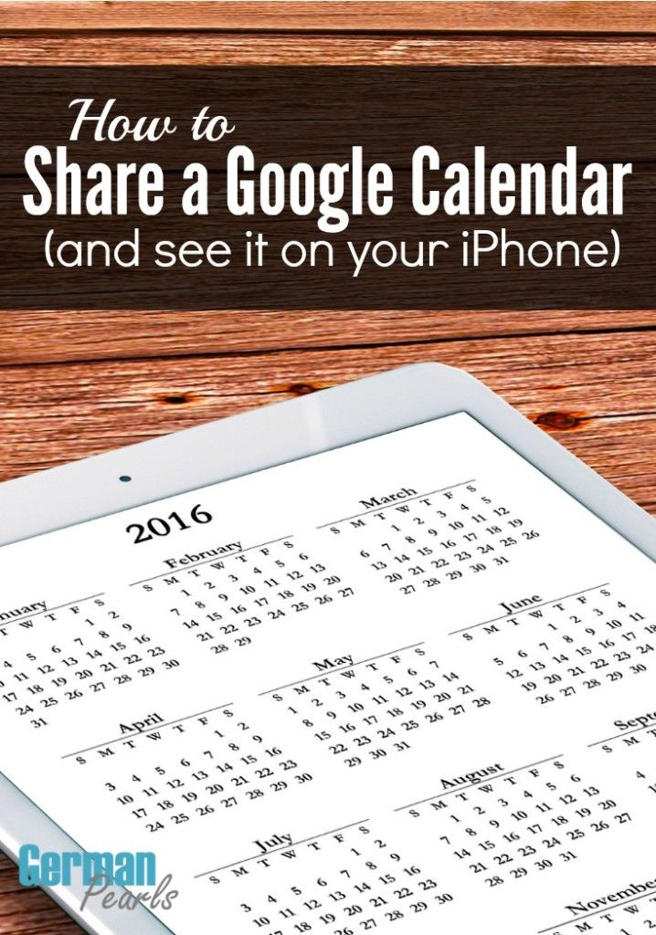 how to share google calendar app iphone