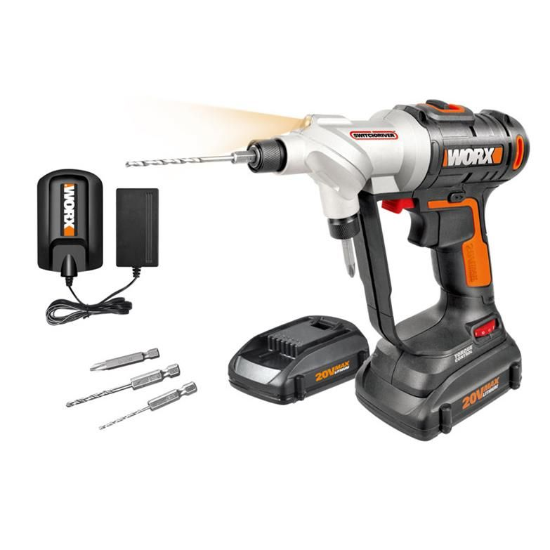 Worx Switchdriver Drill Driver Wx176l Cordless Drill Drill Drill Driver
