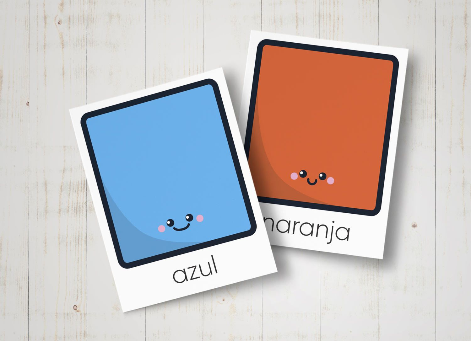Print, Cut and Learn 16 Spanish Colours Flashcards for Kids ...