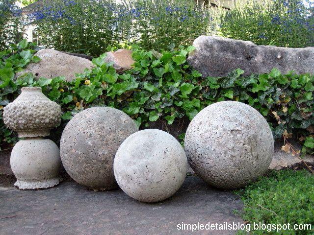 Diy Concrete Garden Spheres, How To Make Cement Garden Spheres