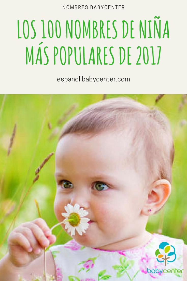 024b35081 Los 100 nombres de niña más populares en 2017