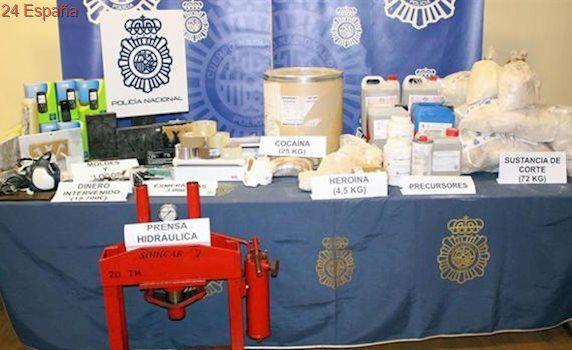 Detenido un grupo de narcotraficantes con 4,5 kilos de heroína y 22 de cocaína