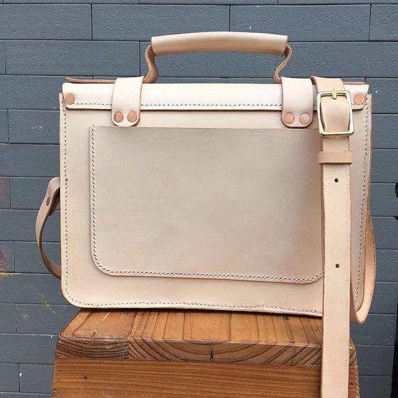 Cuero bolso de cuero genuino bolsa de mensajero por mollostudio