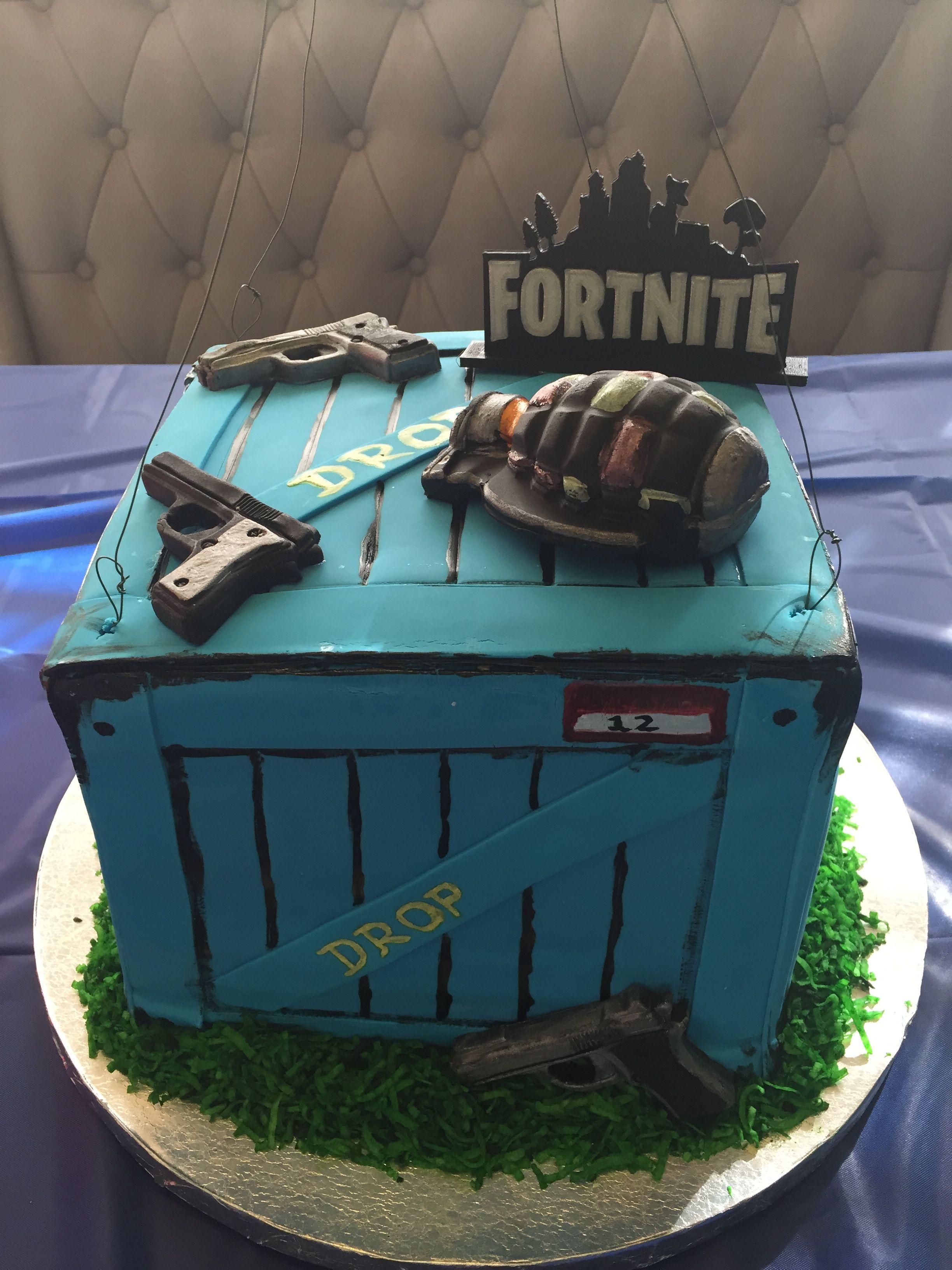 Fortnite Supply Drop Box Cake Cake Ideas In 2019