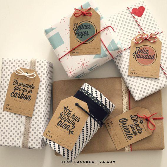 Etiquetas Navideñas Kraft Etiquetas Navideñas Regalos De Navidad Hechos A Mano Regalos De Navidad
