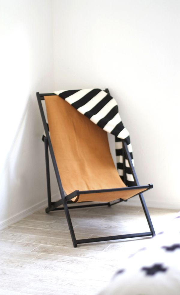 DIY Ikea Beach Chair To Leather Lounger.