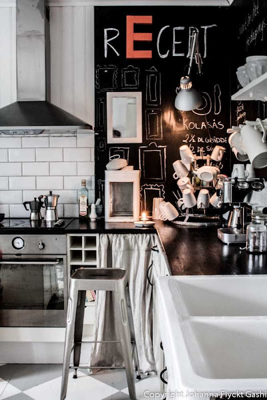 chalkboard back splash kitchen crush.... via VINTAGE http://johanna-vintage.blogspot.com/#