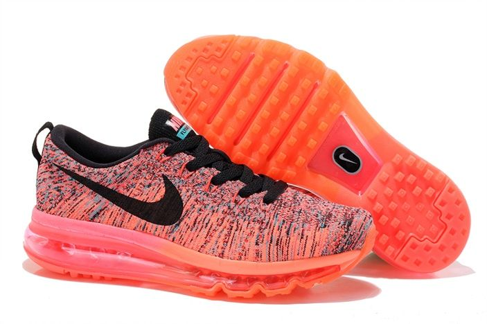 the latest 911b5 9bdf4 Nike Max Shoes Flynit Womens Releases Pink Mago Black Hot