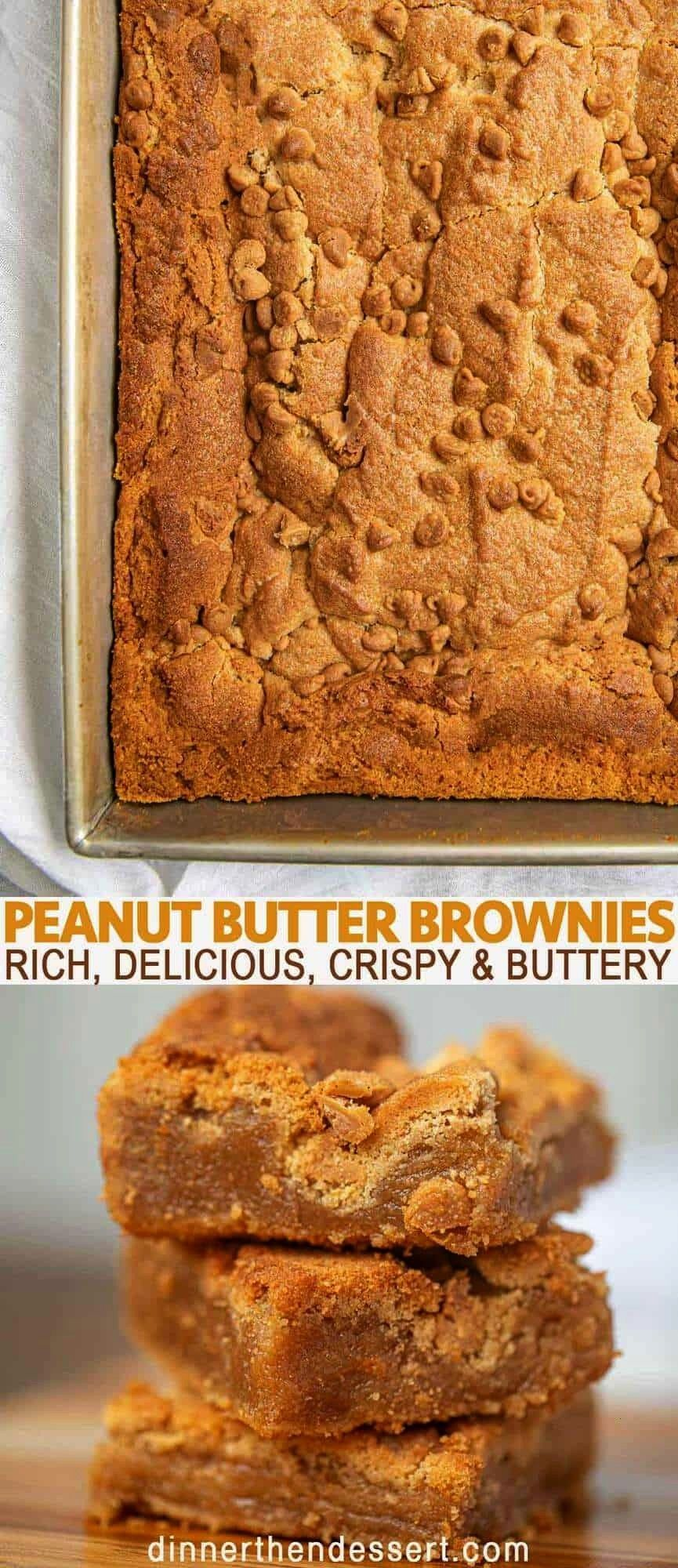 butter brownies are rich, delicious, crispy and buttery brownies with pea... -Peanut butter brownie