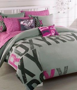 Roxy Quicksilver Express Pink Gray Grey Twin Single Duvet Cover
