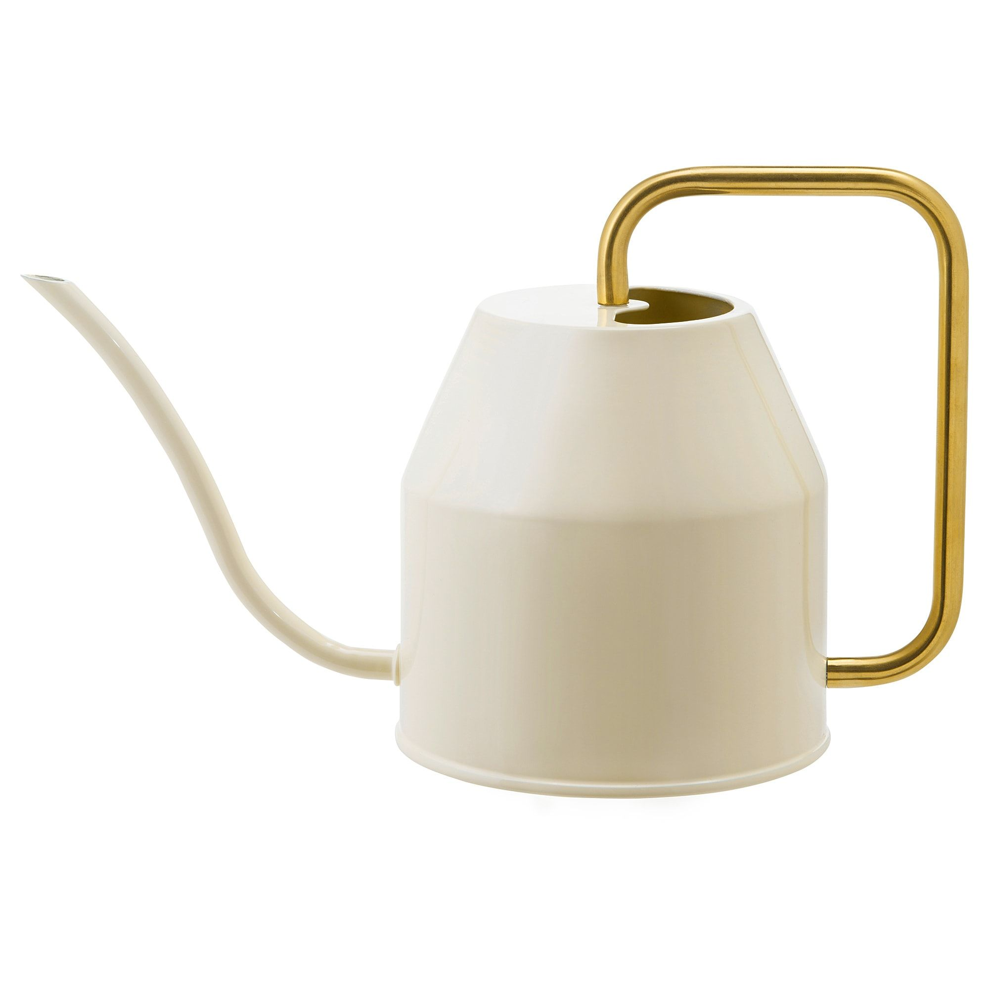 Ikea Vattenkrasse Watering Can Ivory Gold Colour Bamboo In