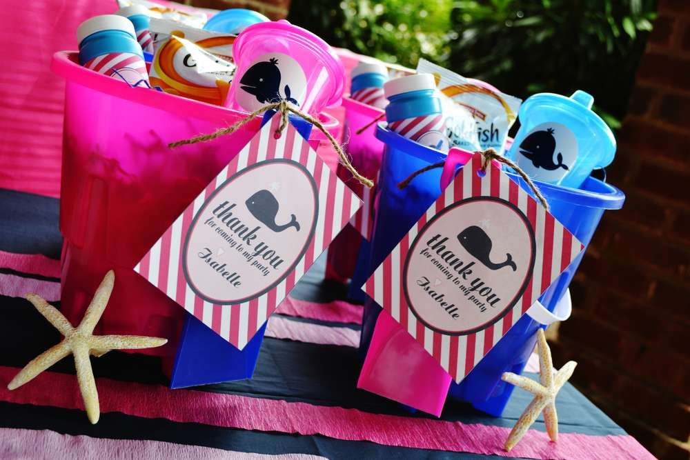 Preppy Pink Whale Birthday Party Ideas | Photo 10 of 19 | Catch My Party