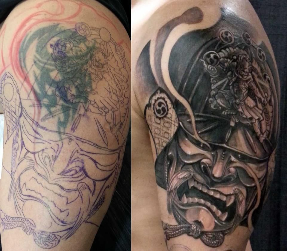 tattoo cover up by csaba Cover up tattoos, Cover up