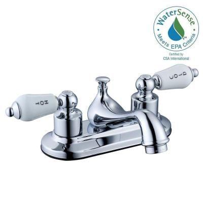 Glacier Bay Teapot 4 In Centerset 2 Handle Low Arc Bathroom