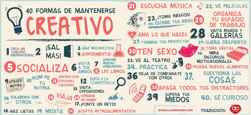 40 formas de mantener la #creatividad en forma  #MktIMF