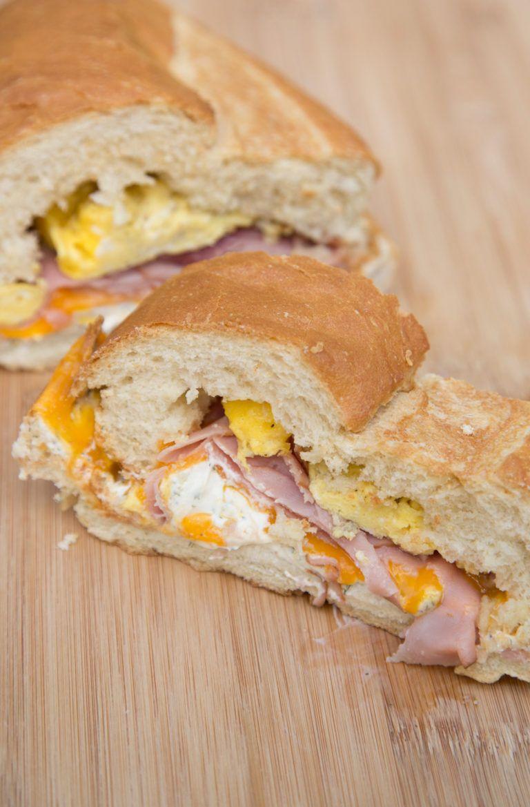 Stuffed Breakfast French Loaf   Recipe   Breakfast for ...