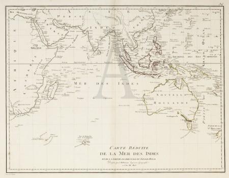Carte Reduite De La Mer Des Indes Et De La Partie Occidentale Du Gran Ocean Antique Print Map Room Map Antique Maps Us Map