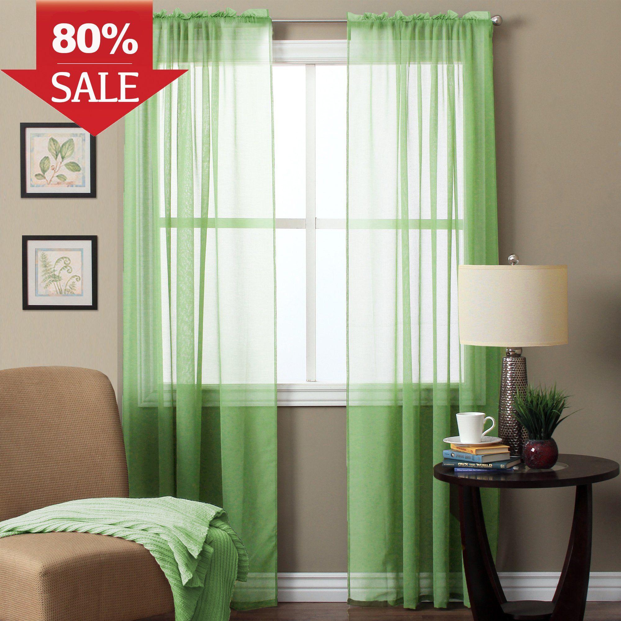 H Versailtex Sheer Curtains For Nursery Room Home Decor