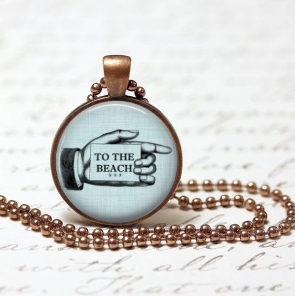 Mens Pendants – Necklaces to the beach pendants – a unique product by MadamebutterflyMeagan on DaWanda