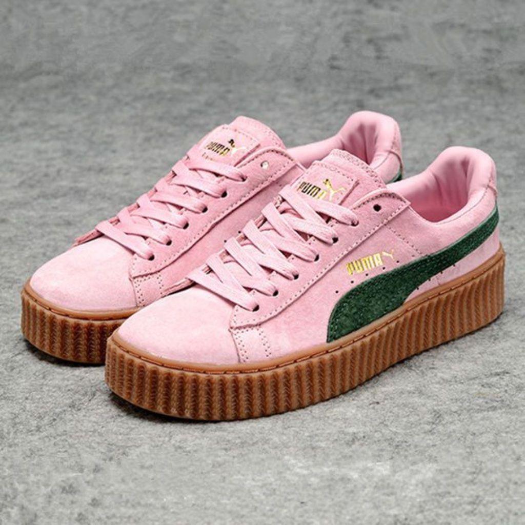 ocio directorio Planificado  Fenty x Puma platform Rihanna creeper pink sneaker in 2020 | Pink puma  shoes, Rihanna creepers, Puma rihanna