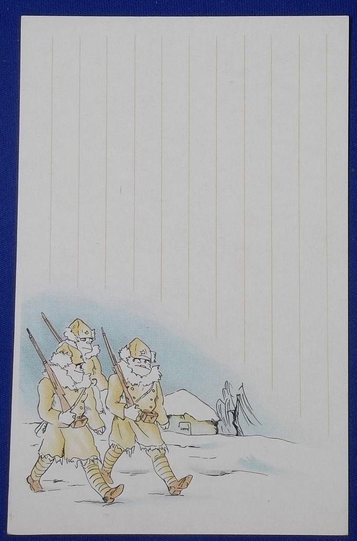 "1930's Japanese Postcards ""Manchuria Expeditionary Army Cartoon Report"" - Japan War Art"