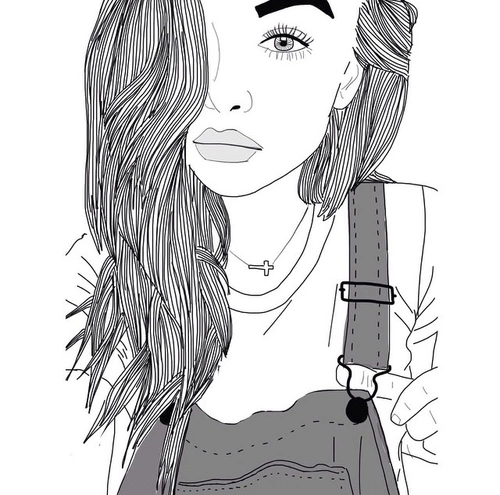 outlines tumblr | dibujos blanco y negro | Tumblr … | Tumblr | Pinte…