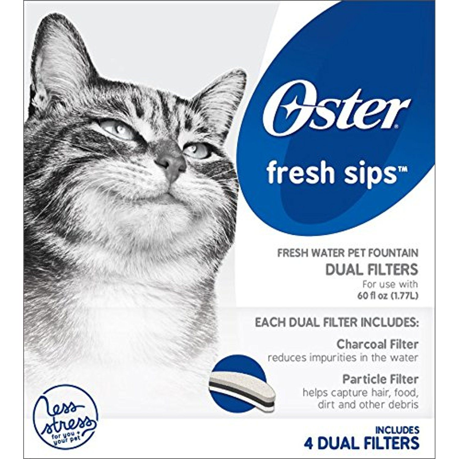 Oster Pet Fountain Filters Replacement for Clean Water