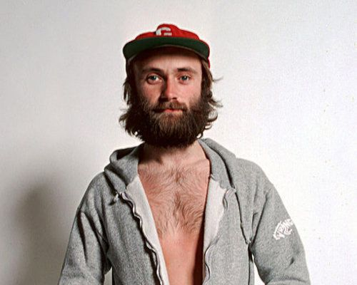Phil Collins with beard!
