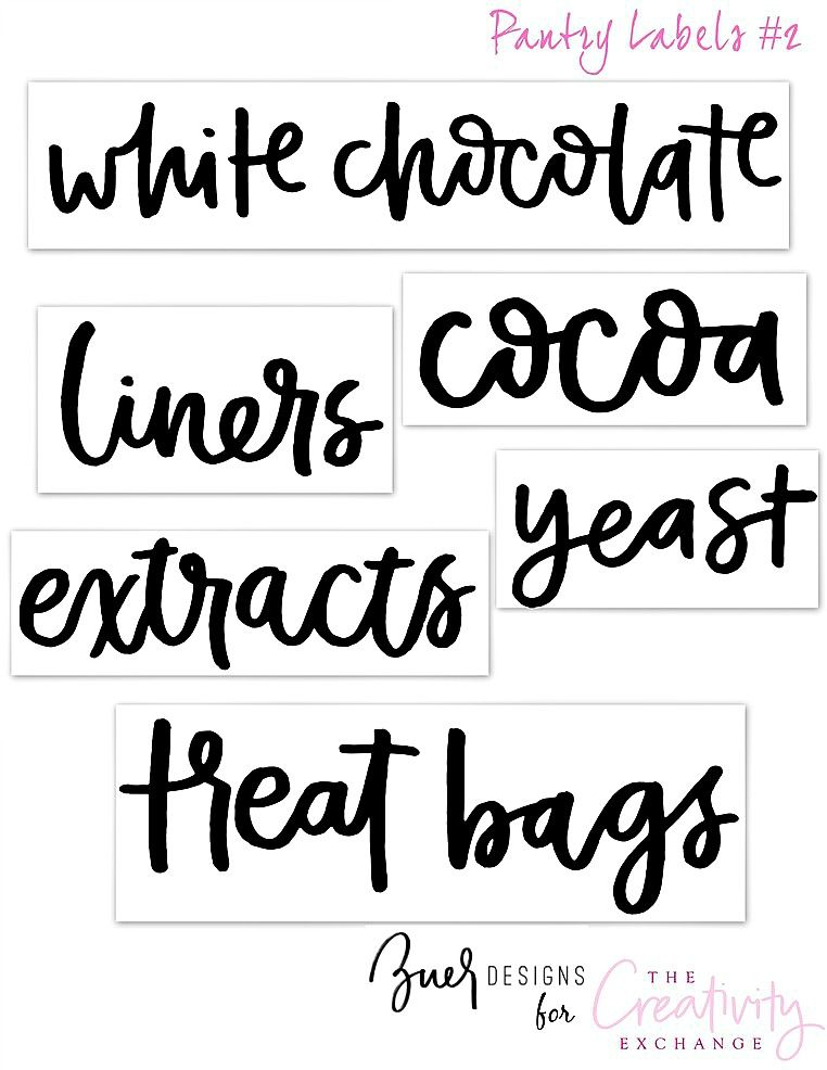 picture about Kitchen Labels Free Printable identified as No cost Printable Pantry Labels: Hand Lettered pantry