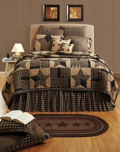 BINGHAM STAR 4 PC King Quilt, (2) King Shams, (1) Burlap Pillow by VHC Brands - 15% OFF! VHC Brands sold by Olivia's Heartland http://www.amazon.com/dp/B00LE55H7G/ref=cm_sw_r_pi_dp_uxscub1H2MA0Y