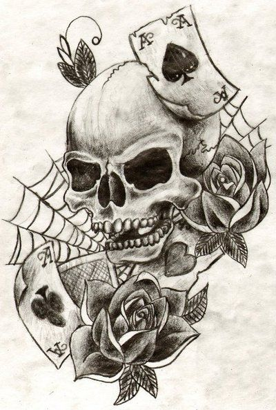 Skull tattoos art skull tattoo by minibellini oh how for Skull love tattoos