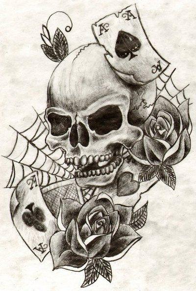 Skull Tattoo By Minibellini On Deviantart Skulls Drawing Skull Tattoo Design Skull Rose Tattoos