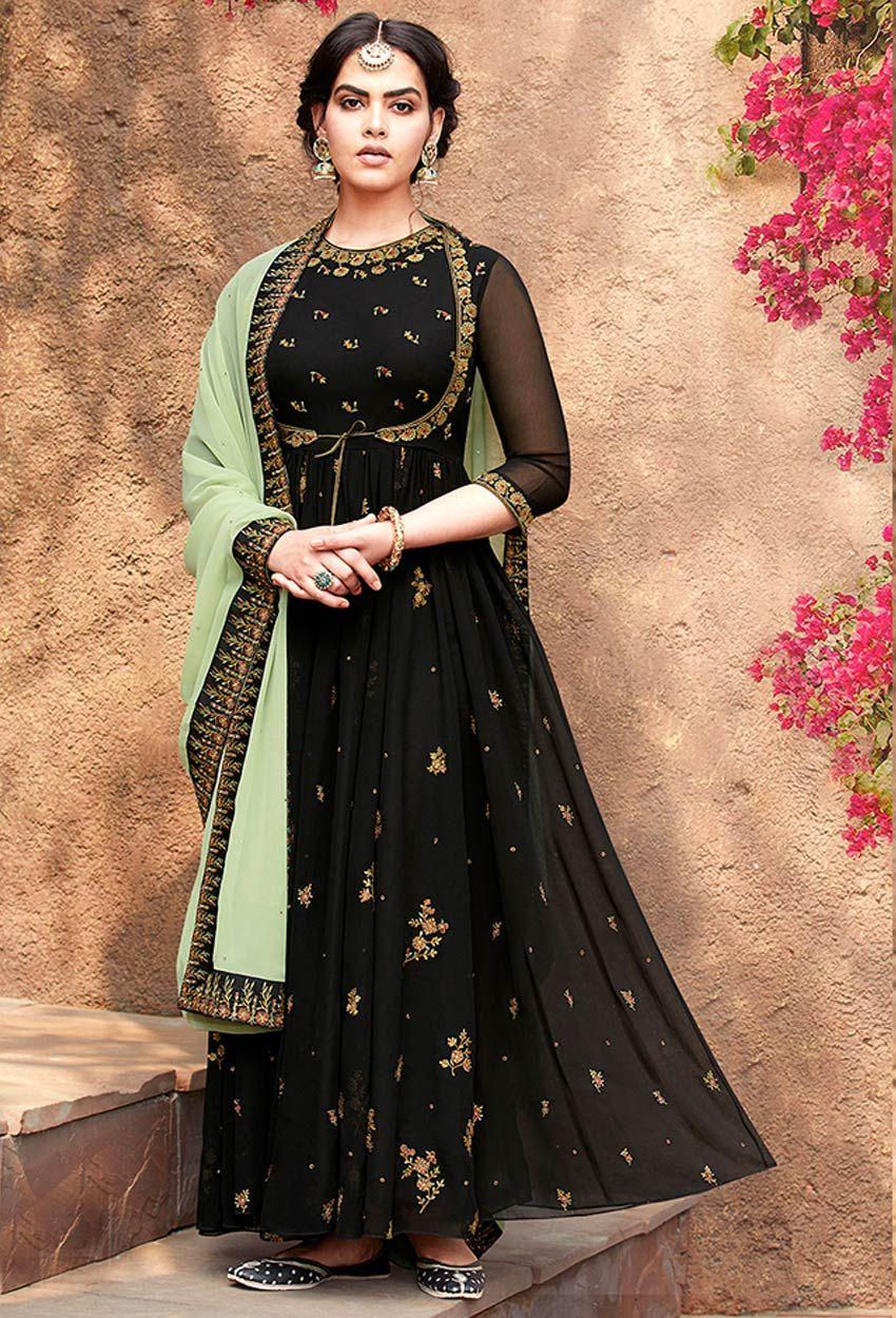 Details about  /Indian wedding dress sawar kameez ethnic pakistani designer anarkali