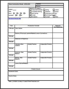 School Planning Template Insssrenterprisesco - Daily lesson plan template high school