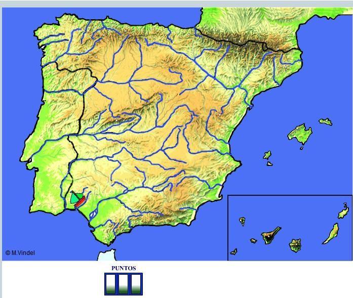 Mapa Rios España Interactivo.Rios De Espana En Juego Interactivo Vindel Didactalia