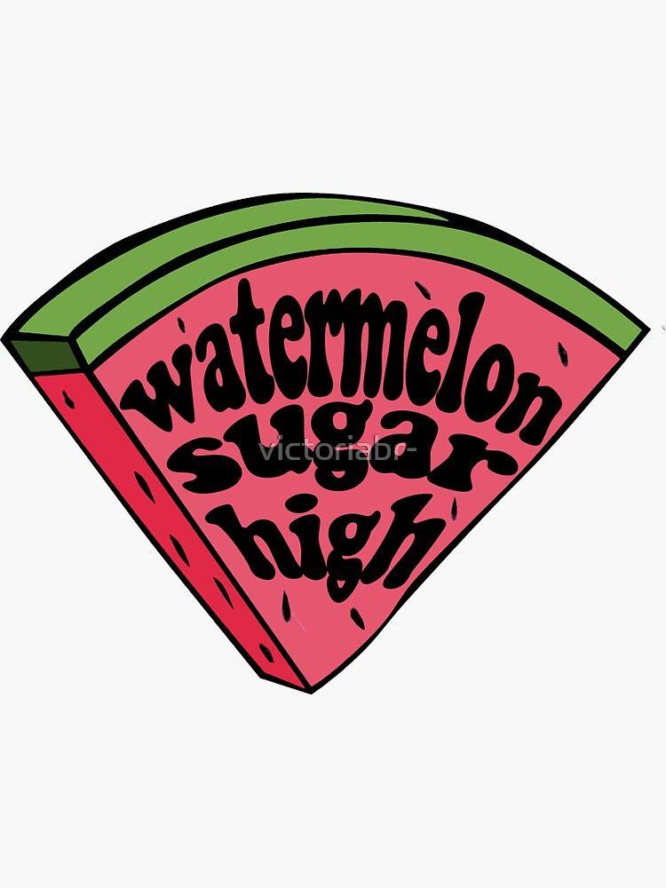 harry styles watermelon sugar (red melon slice) Sticker