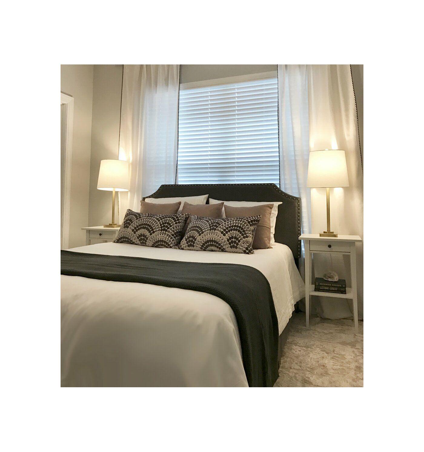 Kyara Upholstered Standard Bed Elegant Bedroom Design Luxurious