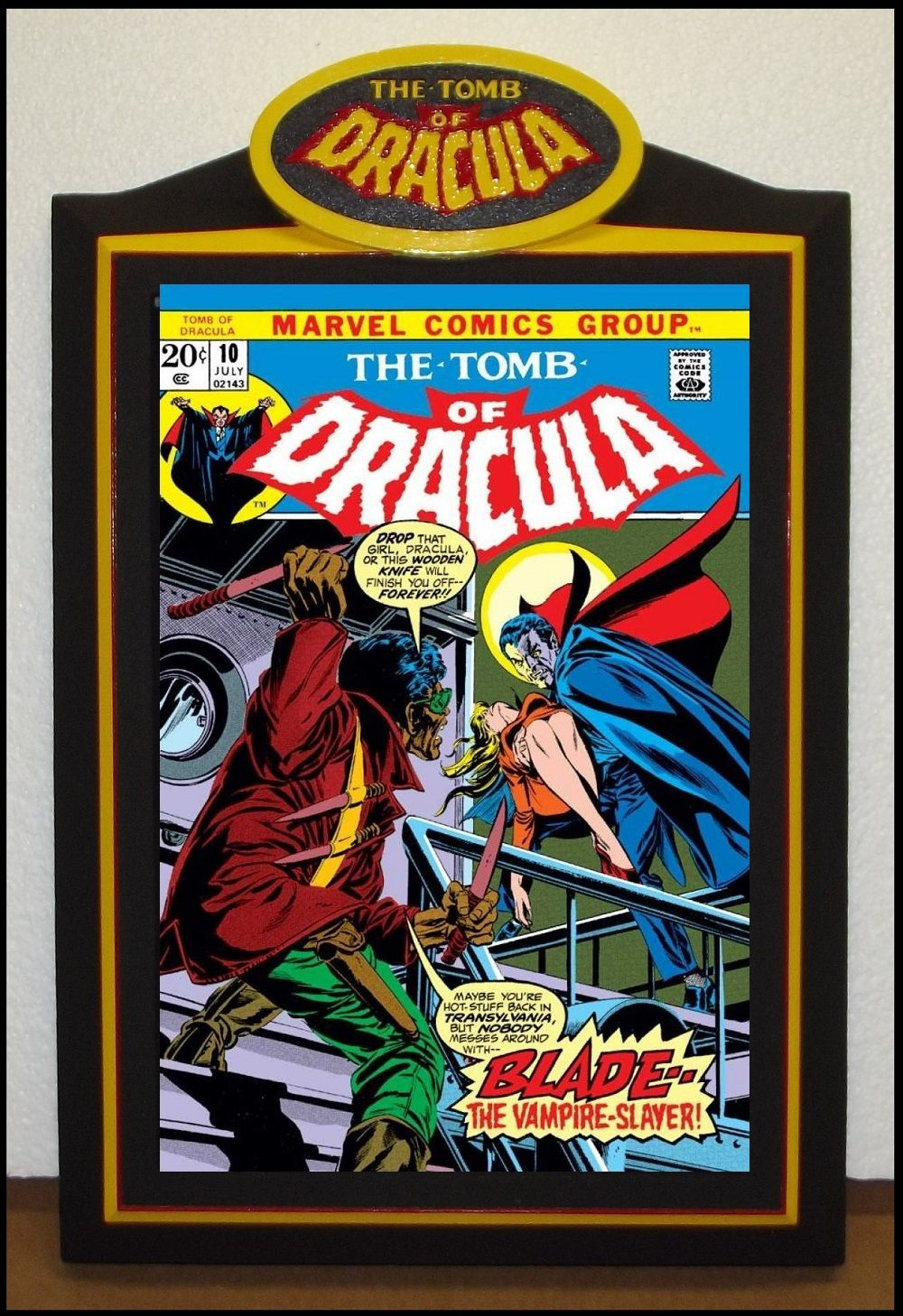 Custom TOMB of DRACULA Comic Book Frame   Custom Comic Book Display ...