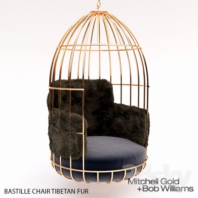 3d Models Arm Chair Bastille Chair Tibetan Fur Swinging Chair Exclusive Furniture Birdcage Chair