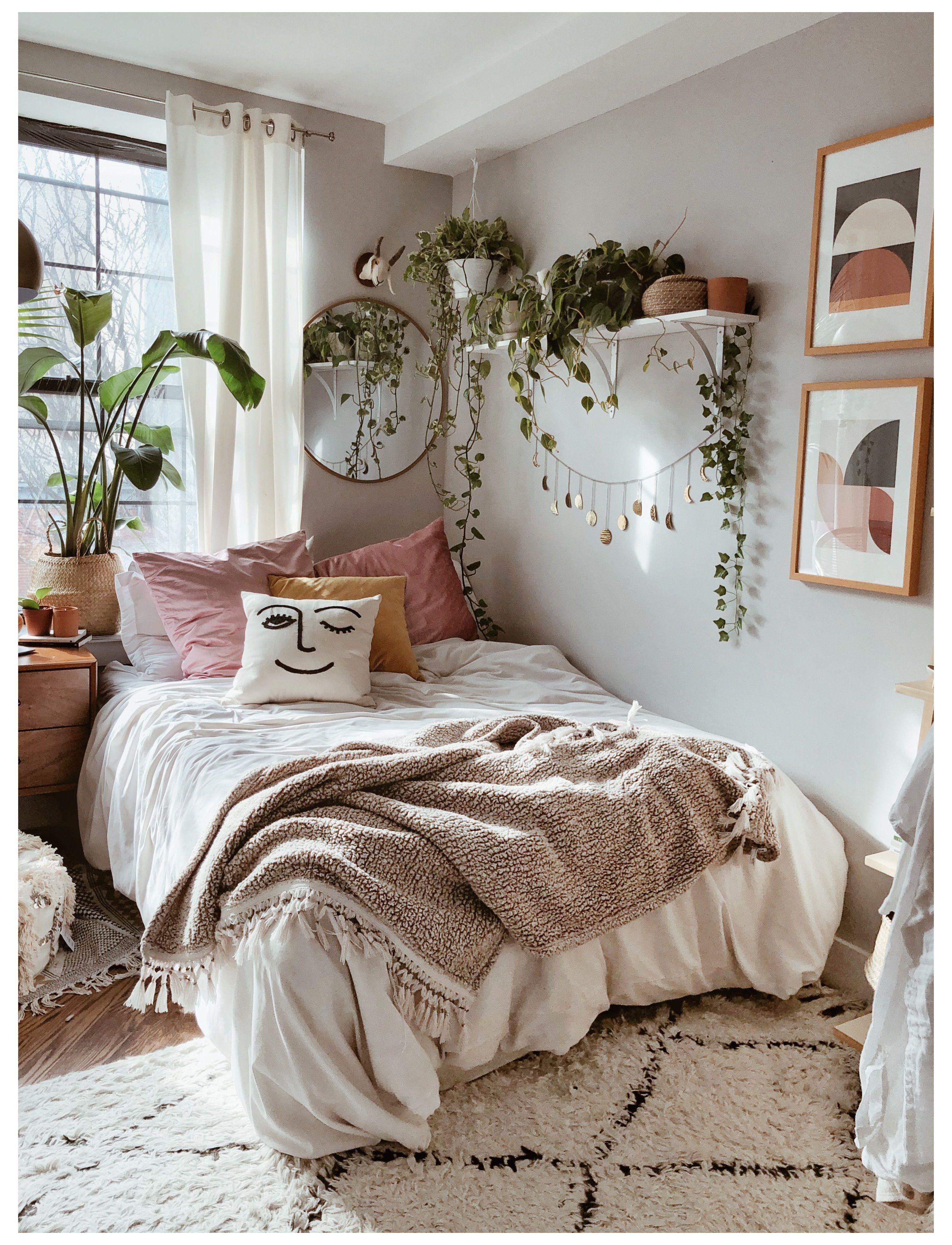 plants in bedroom boho bohemian home - Boho Bedroom Decor ...