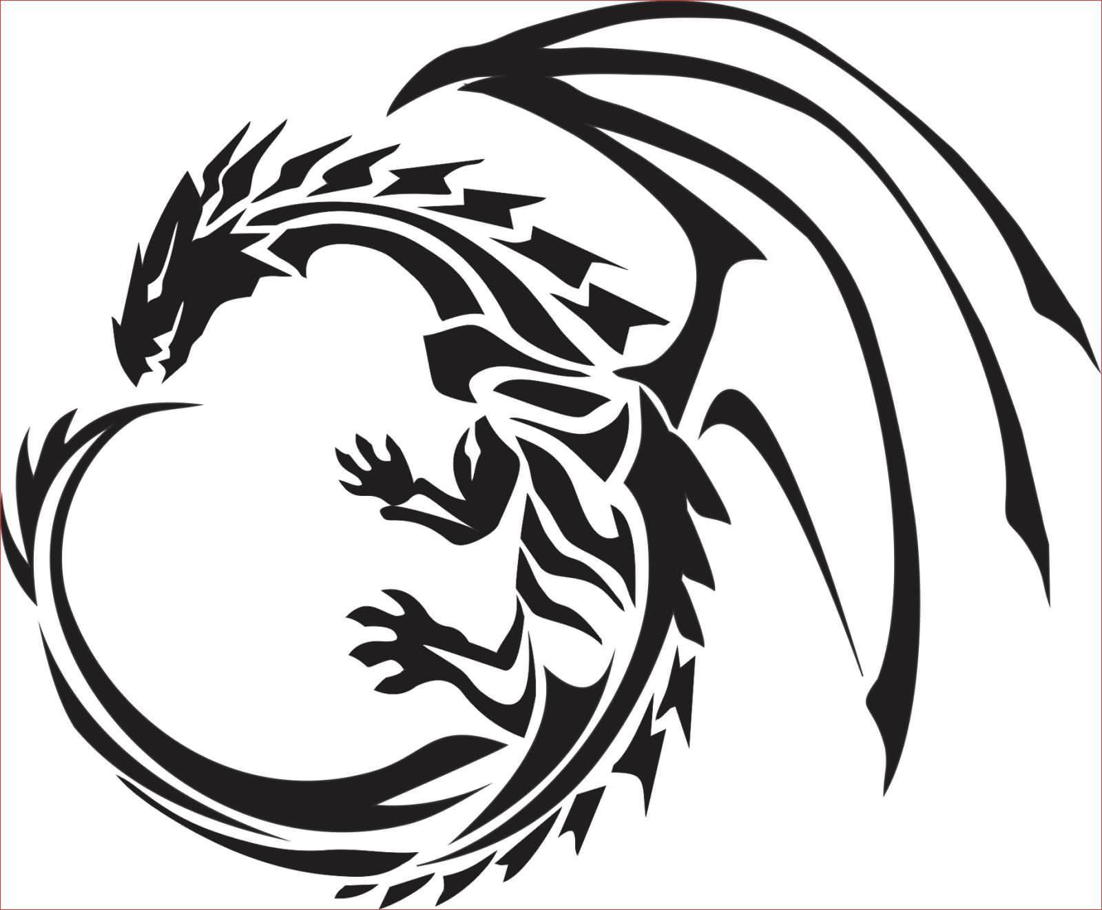 Best Of Tribal Chinese Dragon Tattoos We Otomotive Info Tribal Dragon Tattoos Dragon Silhouette Dragon Tattoo