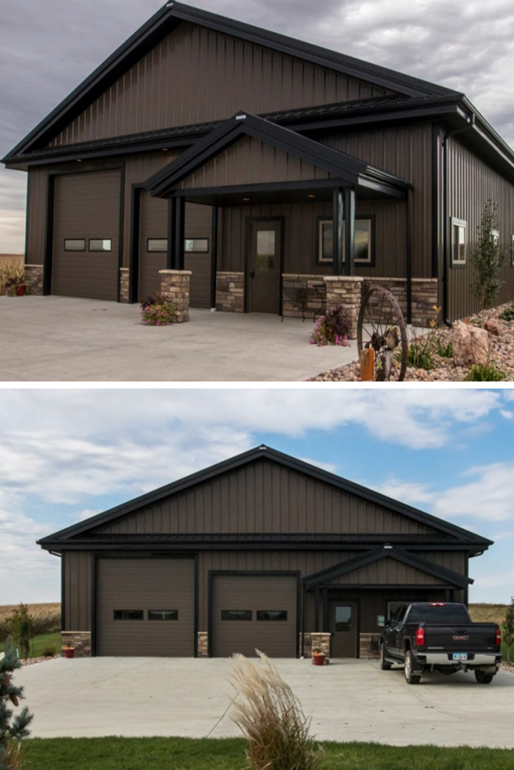 50 Metal Pole Barns You Are Going To Love Metal Pole Barns Metal Building Designs Pole Barn House Plans